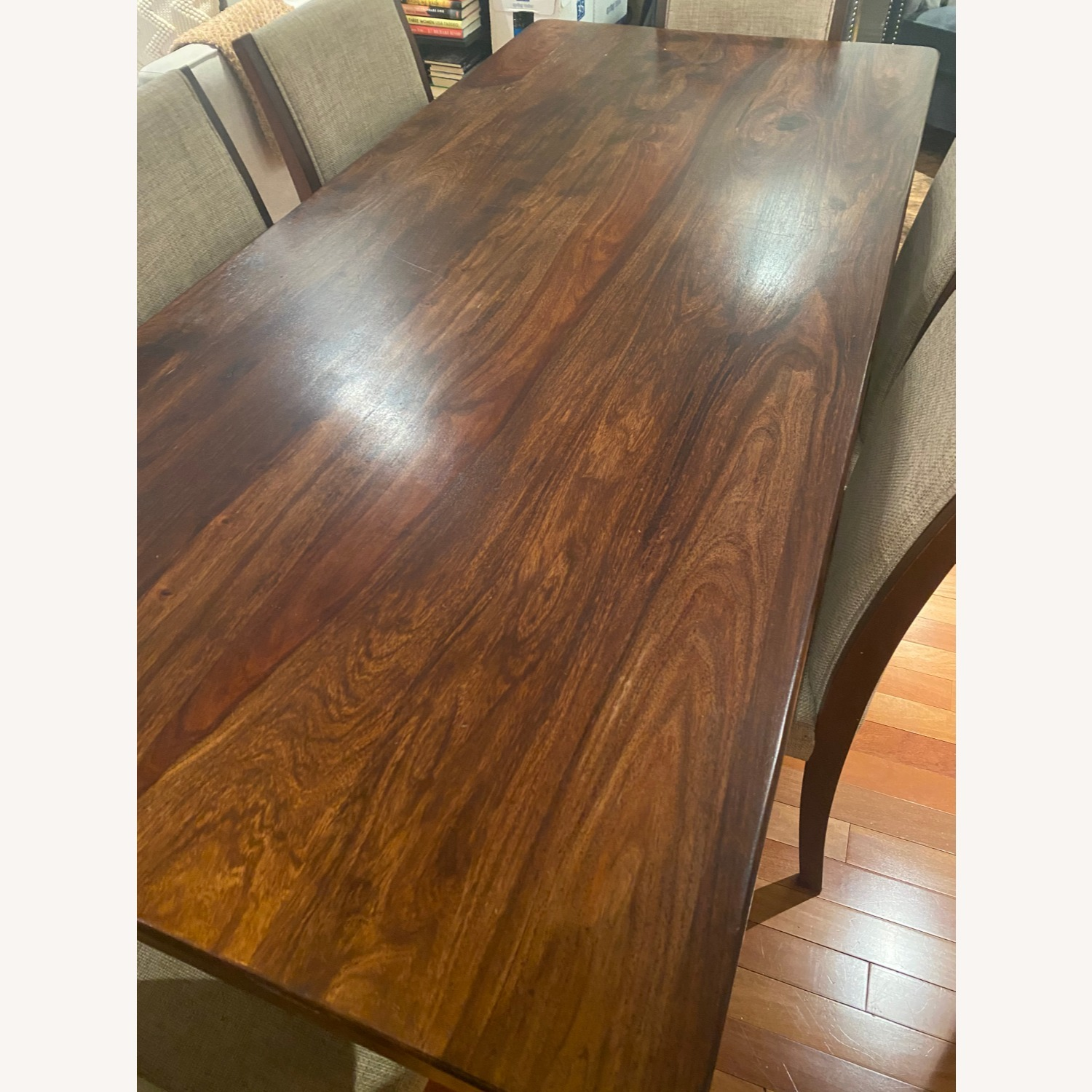 Pier 1 Imports Dark Wood Dining Table, Seats 6 - image-1