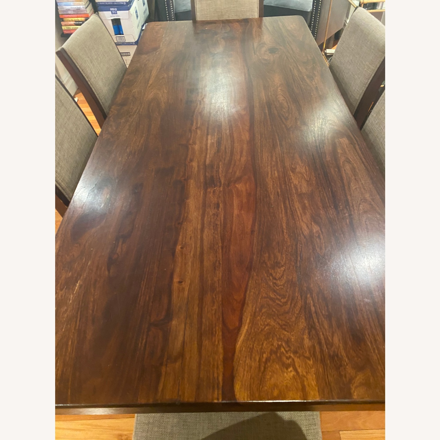 Pier 1 Imports Dark Wood Dining Table, Seats 6 - image-6