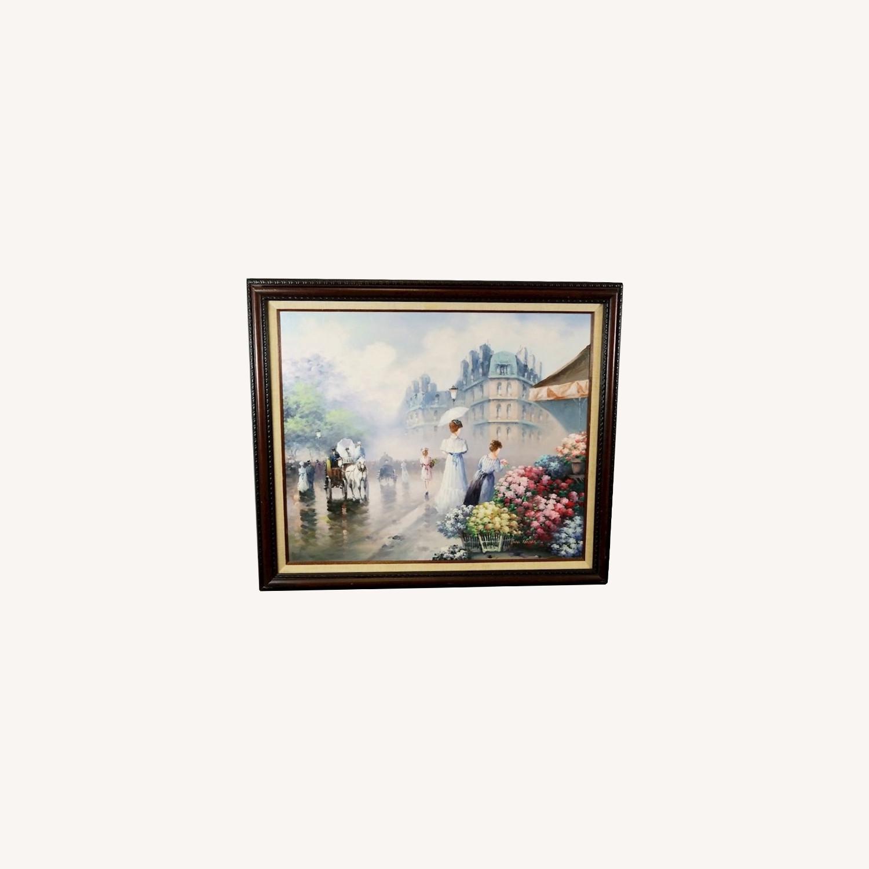 John Hansen Parisian City-Scape Oil Painting - image-0