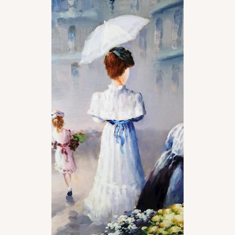 John Hansen Parisian City-Scape Oil Painting - image-3