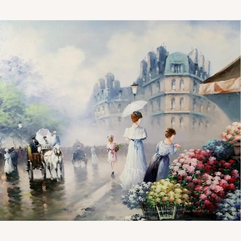 John Hansen Parisian City-Scape Oil Painting - image-7