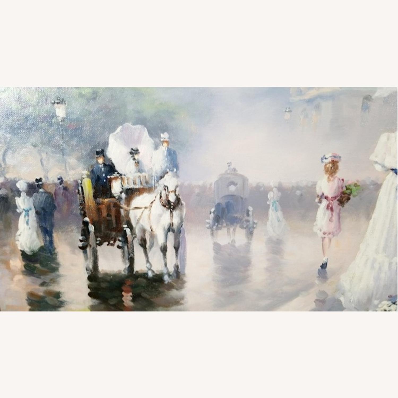 John Hansen Parisian City-Scape Oil Painting - image-10