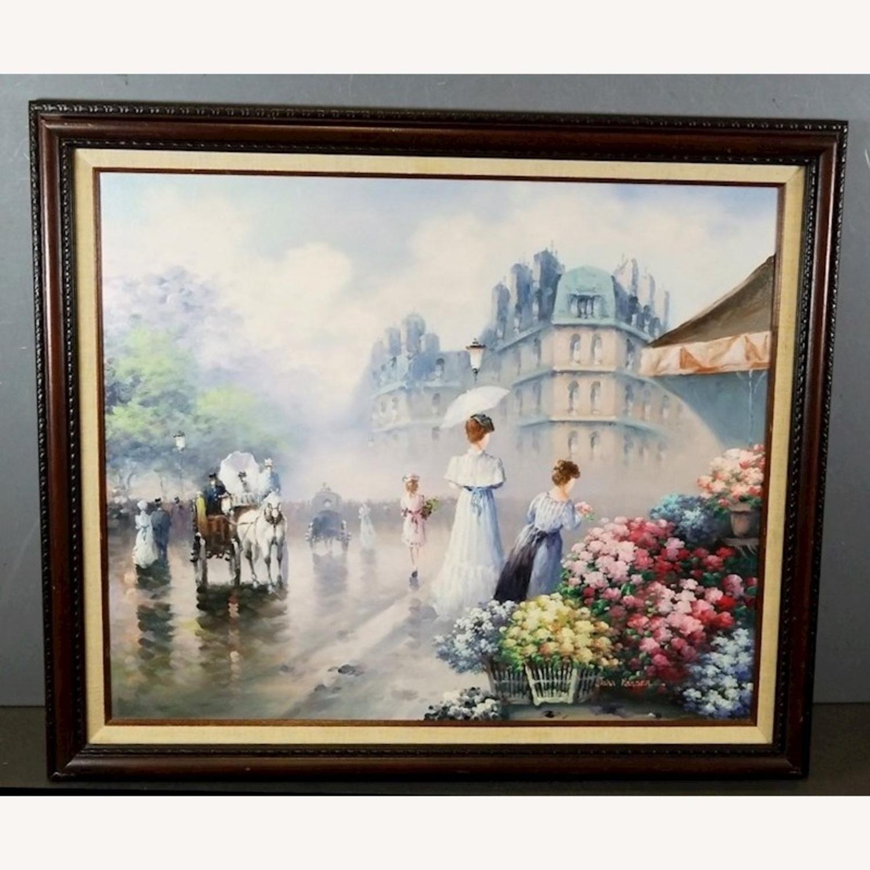 John Hansen Parisian City-Scape Oil Painting - image-2