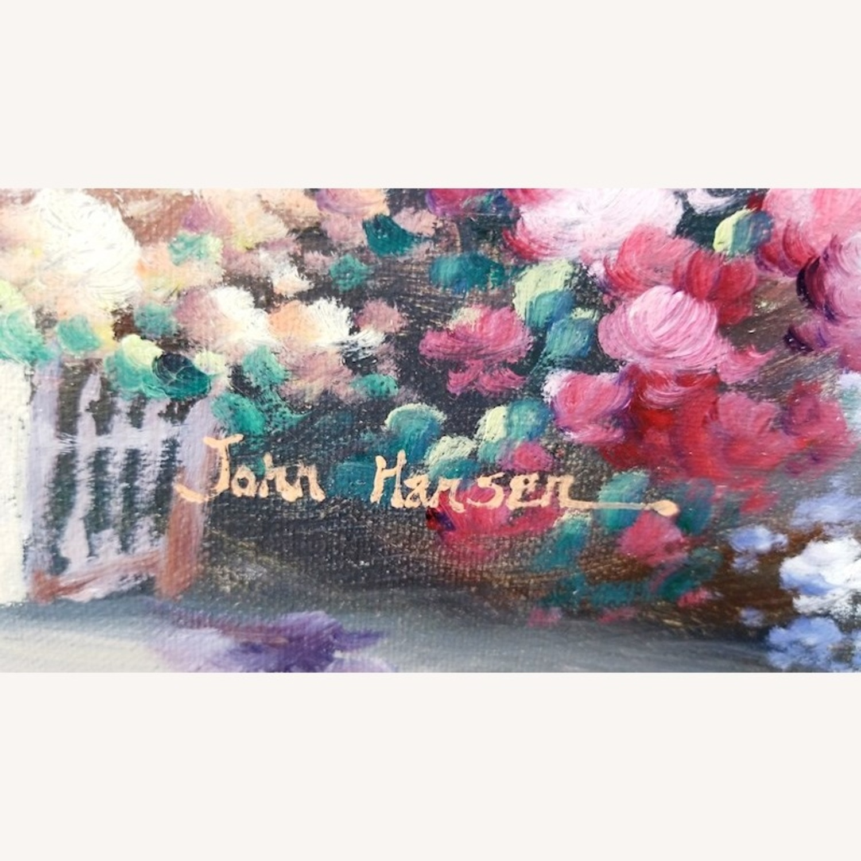 John Hansen Parisian City-Scape Oil Painting - image-1