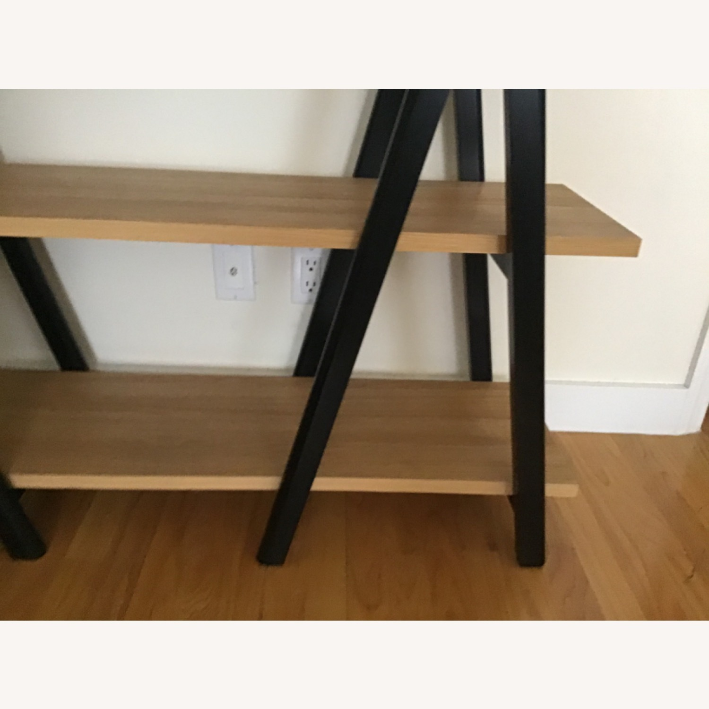 West Elm Ladder Bookshelf Wheat/Black - image-3
