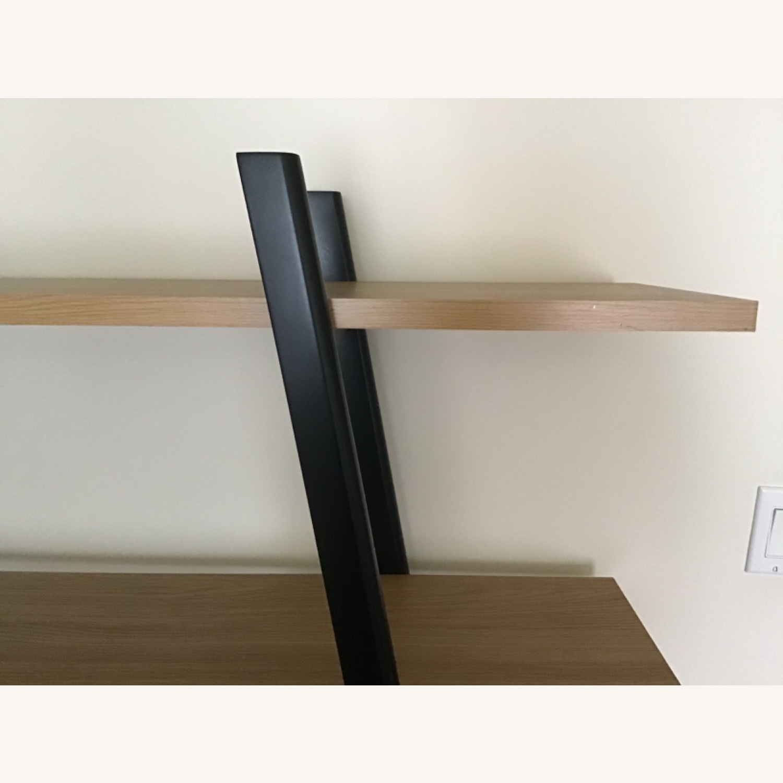 West Elm Ladder Bookshelf Wheat/Black - image-7