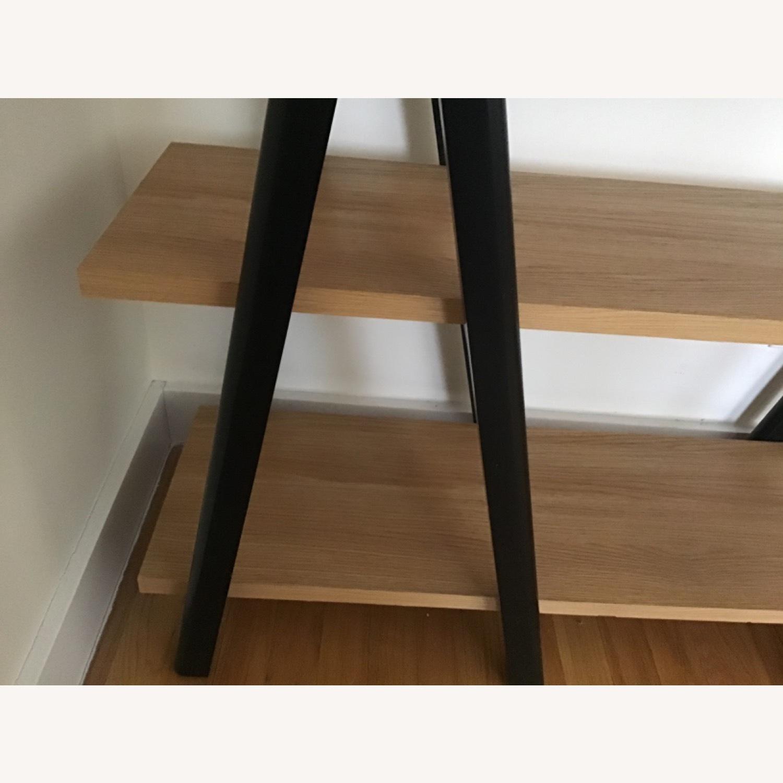 West Elm Ladder Bookshelf Wheat/Black - image-4