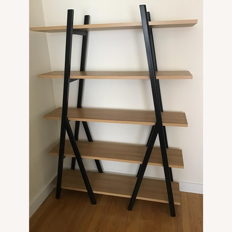 West Elm Ladder Bookshelf Wheat/Black - image-1