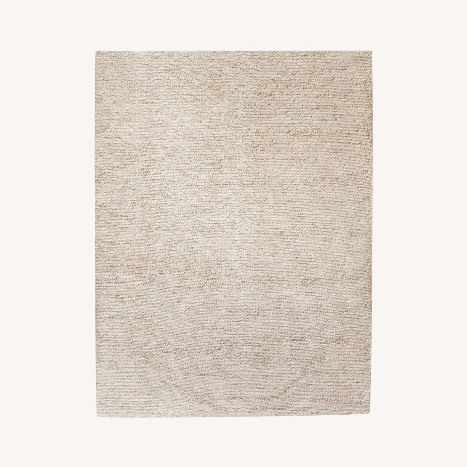 West Elm Mini Pebble Jute Wool Rug - image-0
