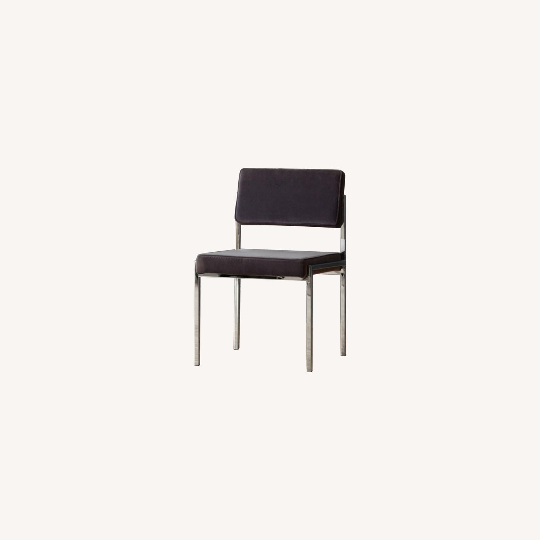 CB2 Vexx Velvet Dining Chairs x 6 - image-0