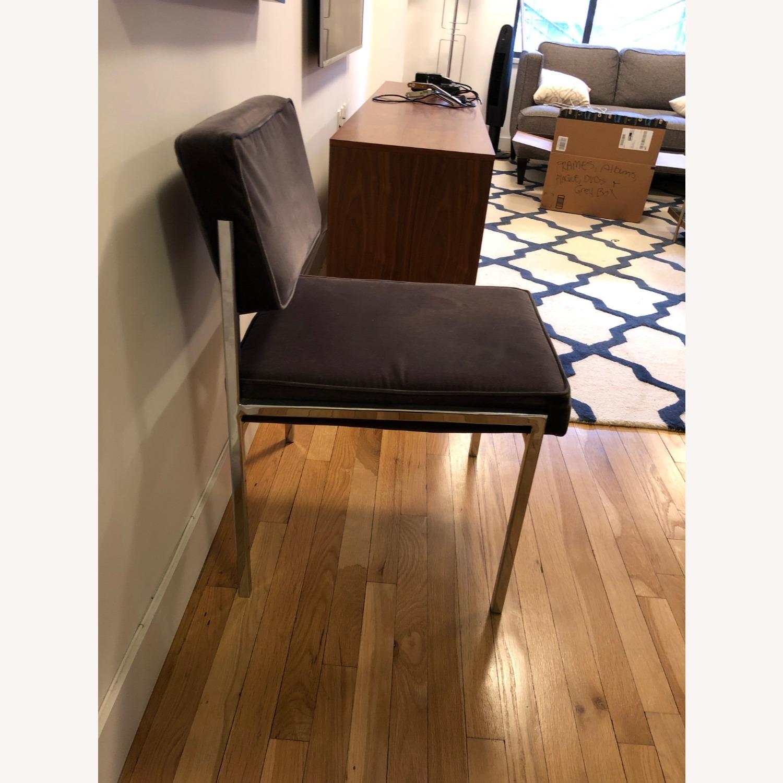 CB2 Vexx Velvet Dining Chairs x 6 - image-3