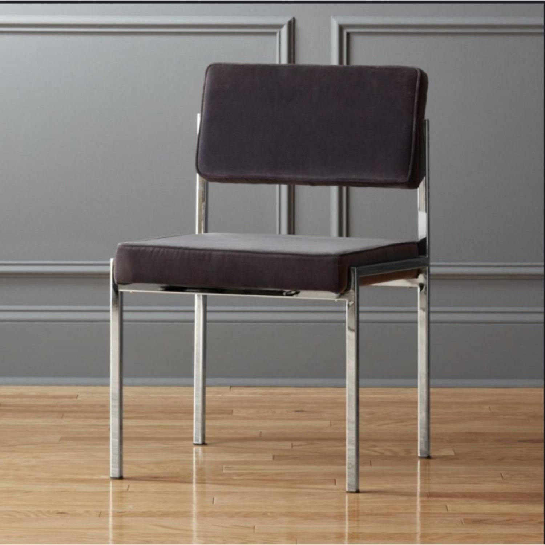 CB2 Vexx Velvet Dining Chairs x 6 - image-1
