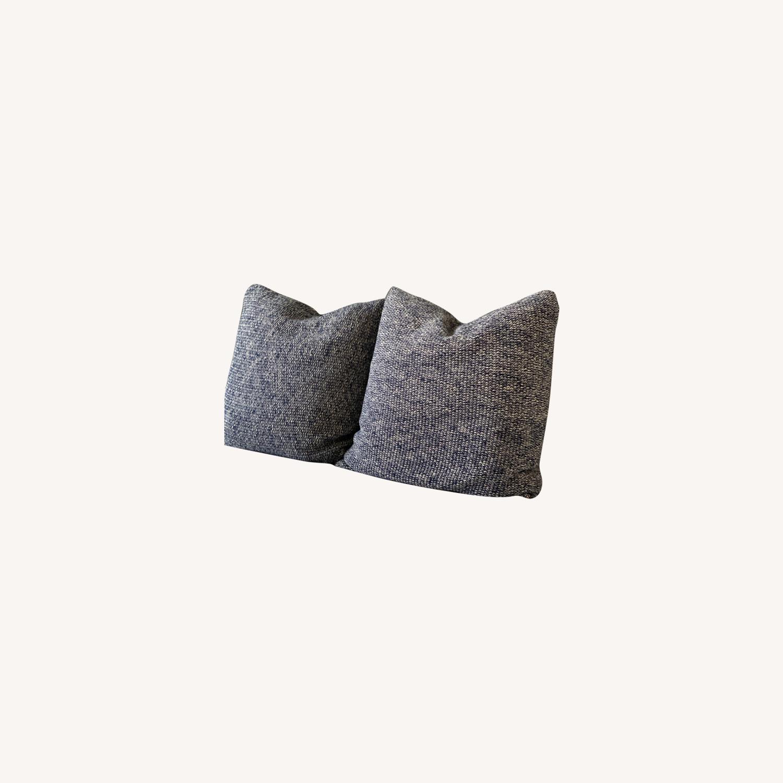 Ralph Lauren Home, Knit Throw Pillow Blue Melange - image-0