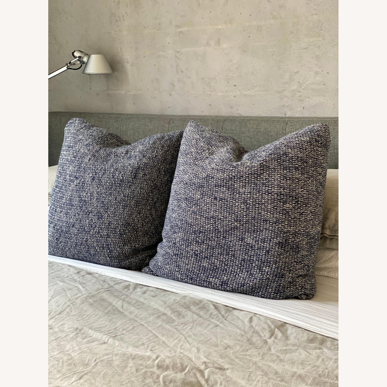 Ralph Lauren Home, Knit Throw Pillow Blue Melange - image-1