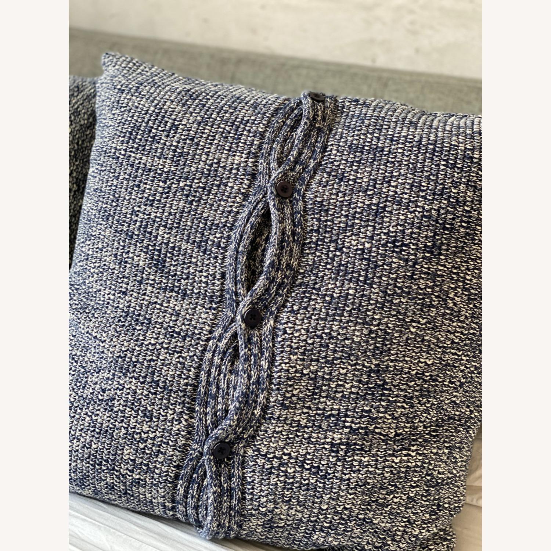 Ralph Lauren Home, Knit Throw Pillow Blue Melange - image-2