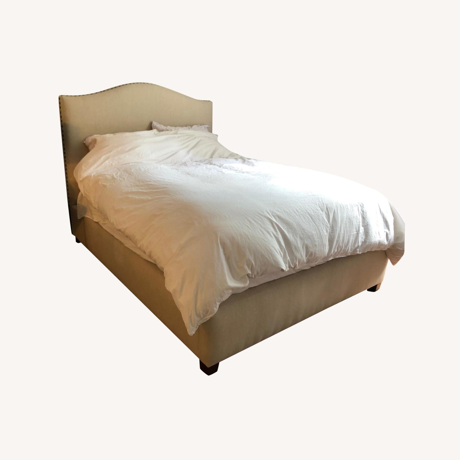 Pottery Barn Raleigh Upholstered Bed- Queen - image-0