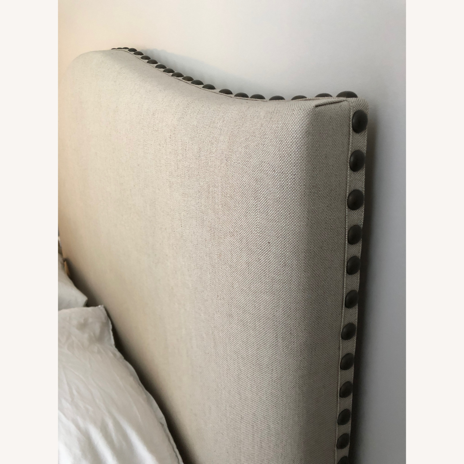 Pottery Barn Raleigh Upholstered Bed- Queen - image-2