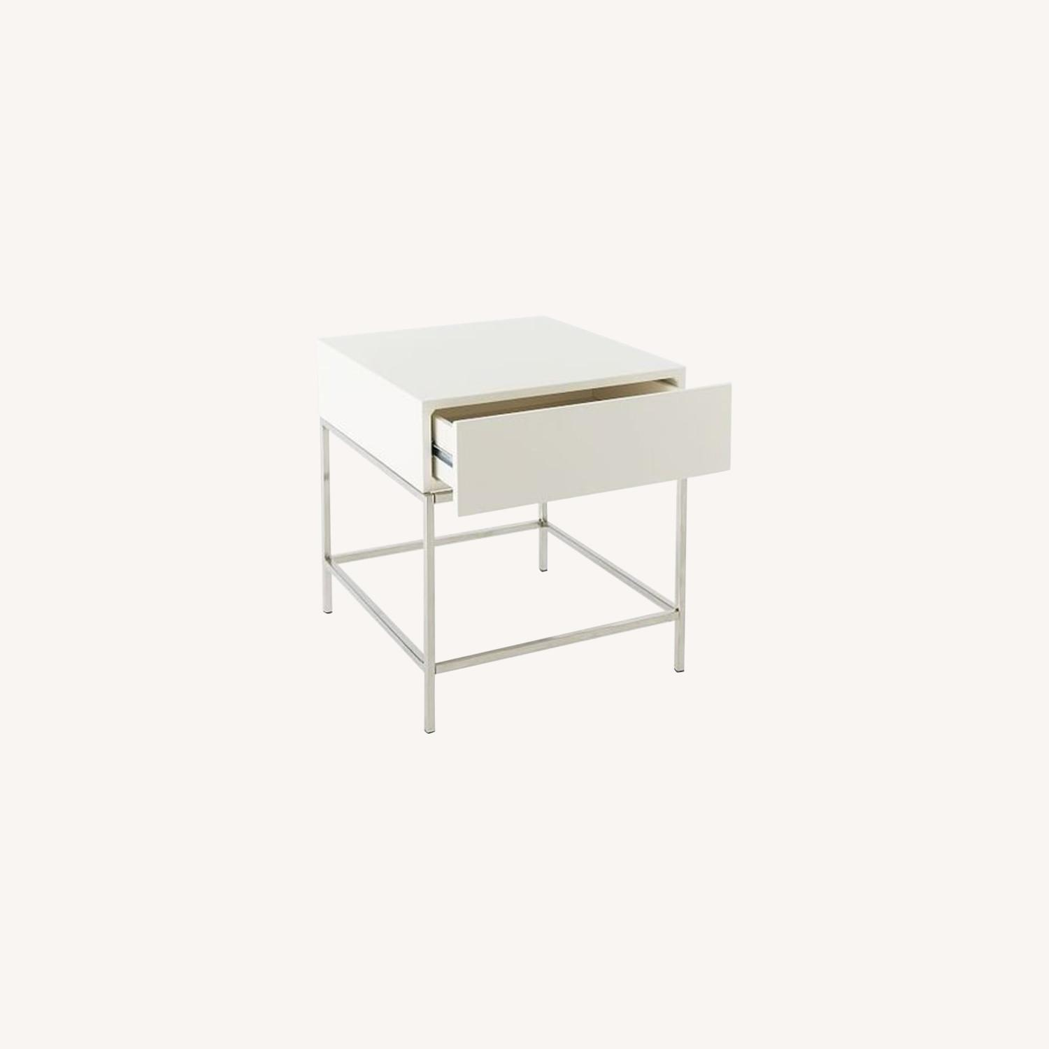 West Elm Lacquer Storage Side Table - image-0