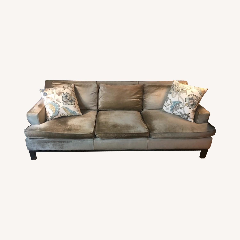 Jonathan Adler Mink Velvet Sofa - image-0
