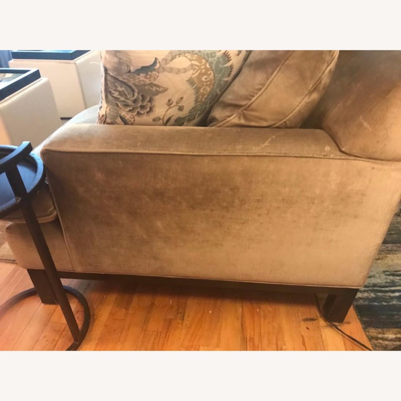 Jonathan Adler Mink Velvet Sofa - image-3