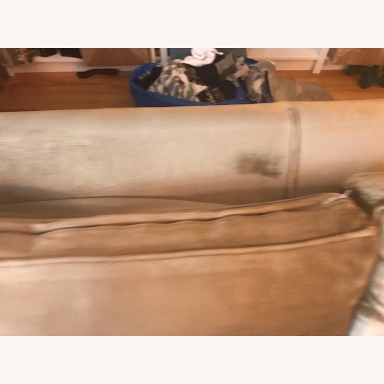 Jonathan Adler Mink Velvet Sofa - image-5