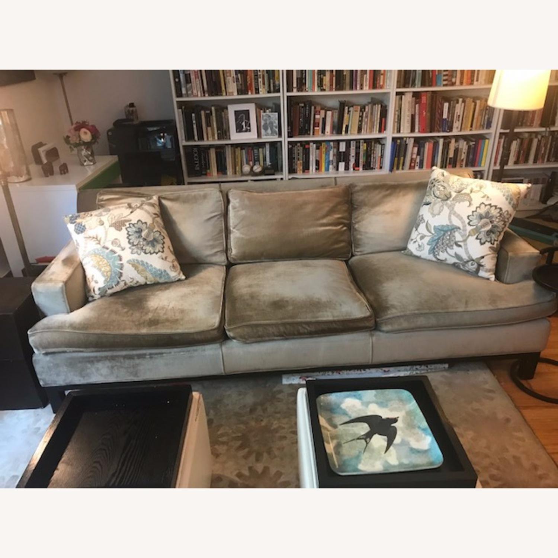 Jonathan Adler Mink Velvet Sofa - image-1