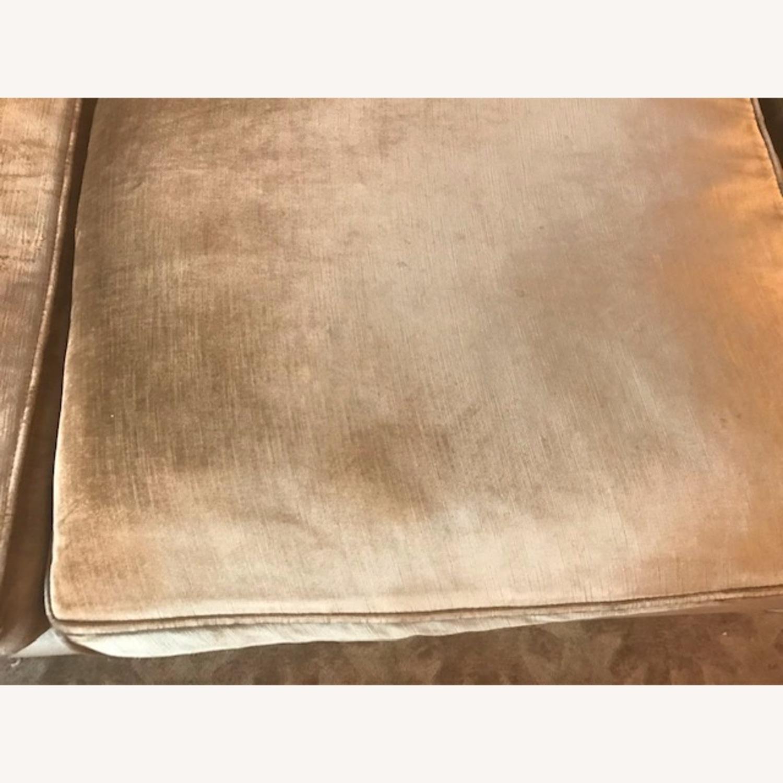 Jonathan Adler Mink Velvet Sofa - image-7