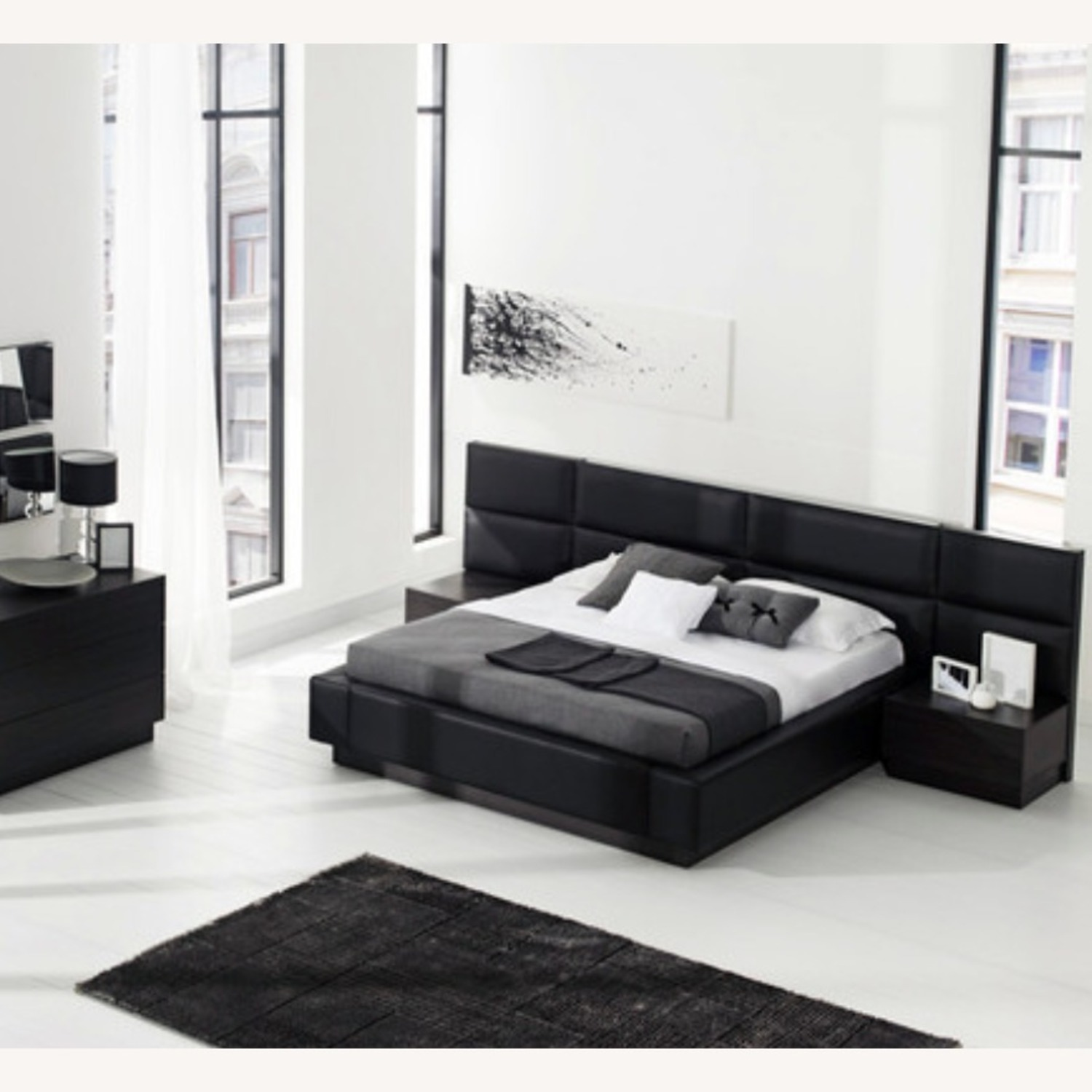Lazzoni Queen Bed Storage and Led Lights - image-1