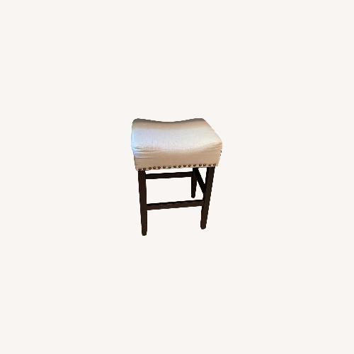 Used Beige Linen Counter Stools for sale on AptDeco