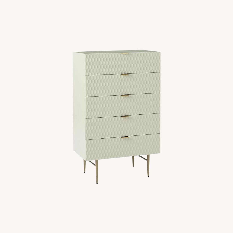 West Elm Audrey 5-Drawer Dresser, Parchment - image-0