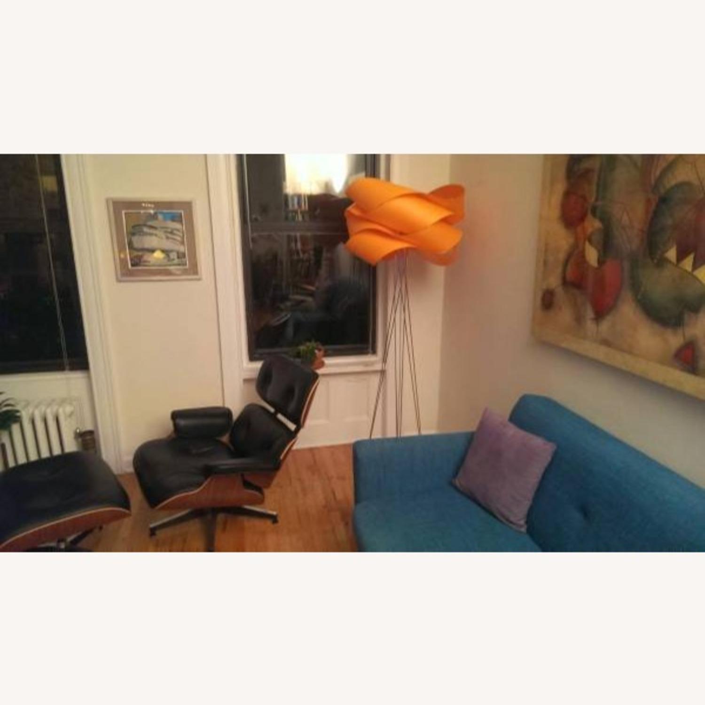 LZF Designer Tripod Lamp Floor Orange Shade - image-2