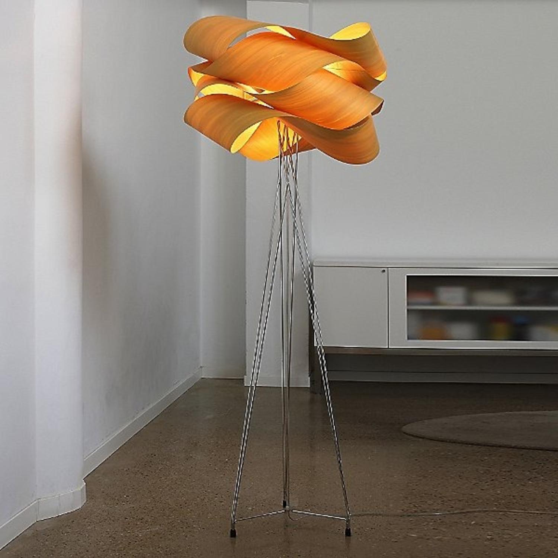 LZF Designer Tripod Lamp Floor Orange Shade - image-1