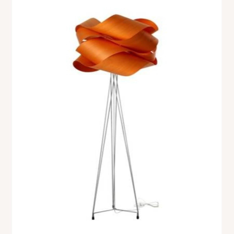 LZF Designer Tripod Lamp Floor Orange Shade - image-3
