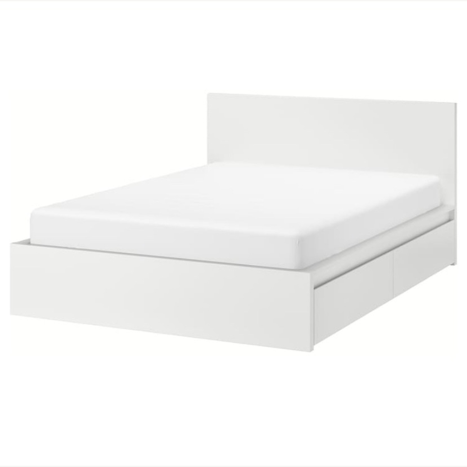 IKEA Malm High Full Bed Frame with Storage Boxes - image-4