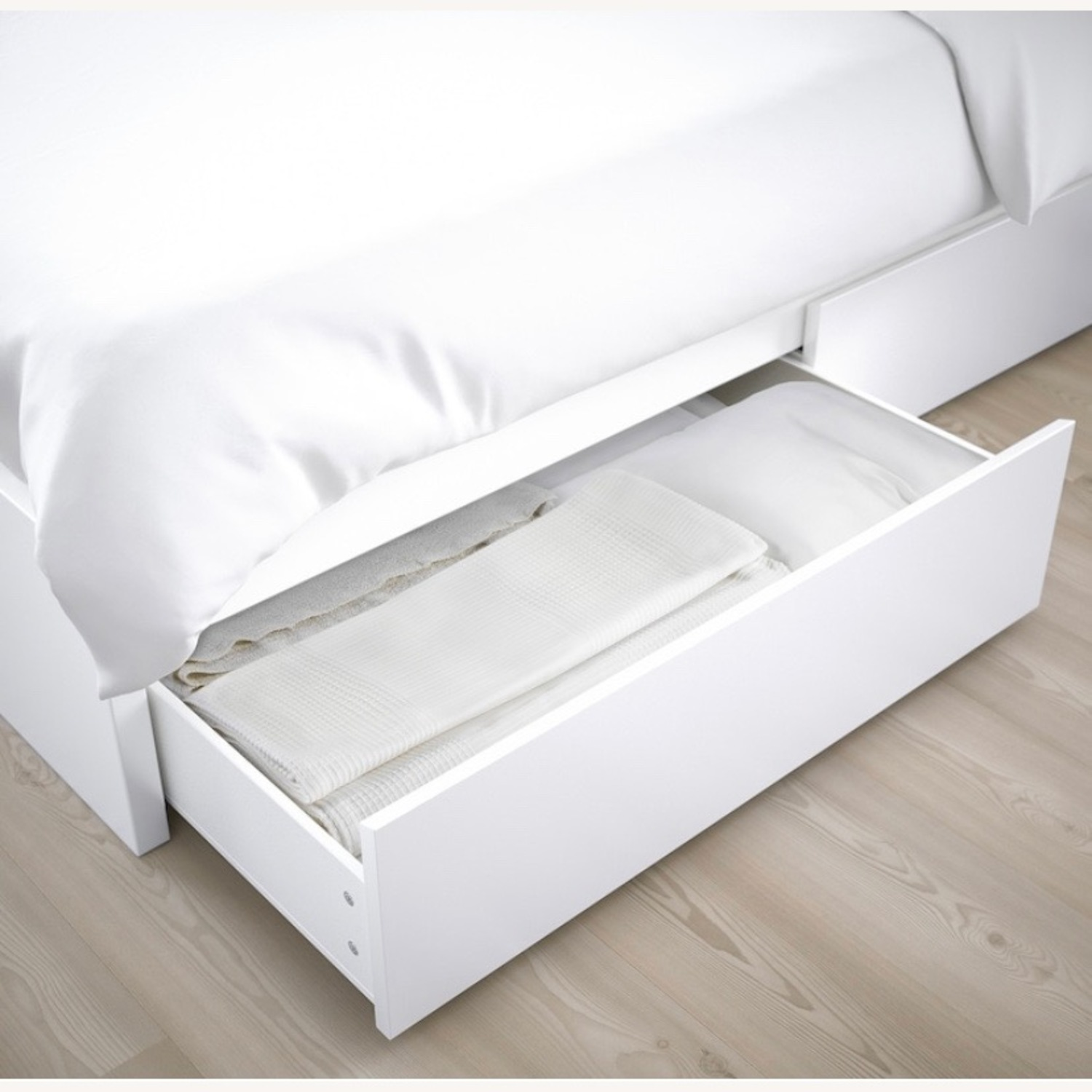 IKEA Malm High Full Bed Frame with Storage Boxes - image-2