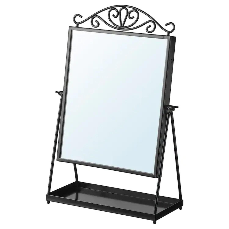 IKEA KARMSUND Black Table mirror - image-1