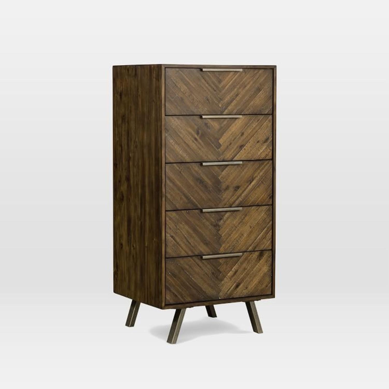 West Elm Parquet Block + Steel 5-Drawer Dresser - image-1
