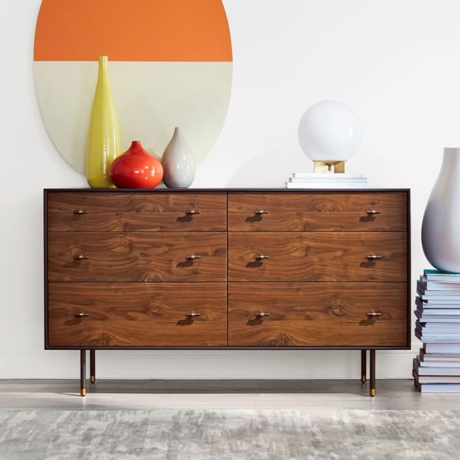 West Elm Wood & Lacquer 6-Drawer Dresser  - image-4
