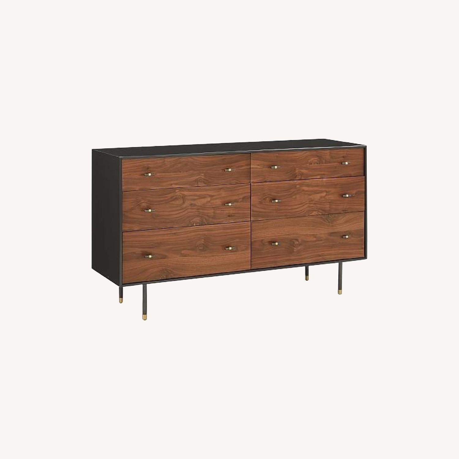 West Elm Wood & Lacquer 6-Drawer Dresser  - image-0