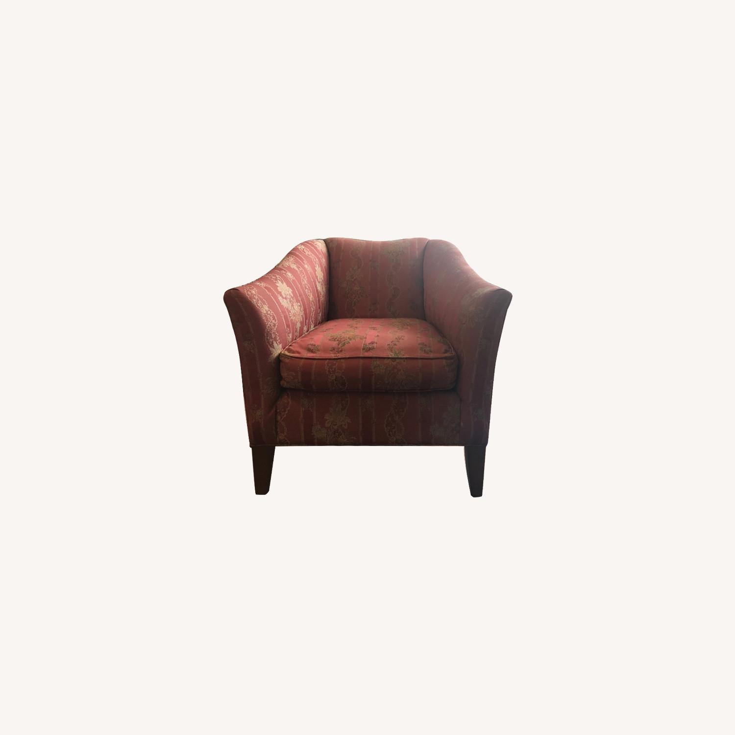 Ethan Allen Rose Accent Arm Chair - image-0