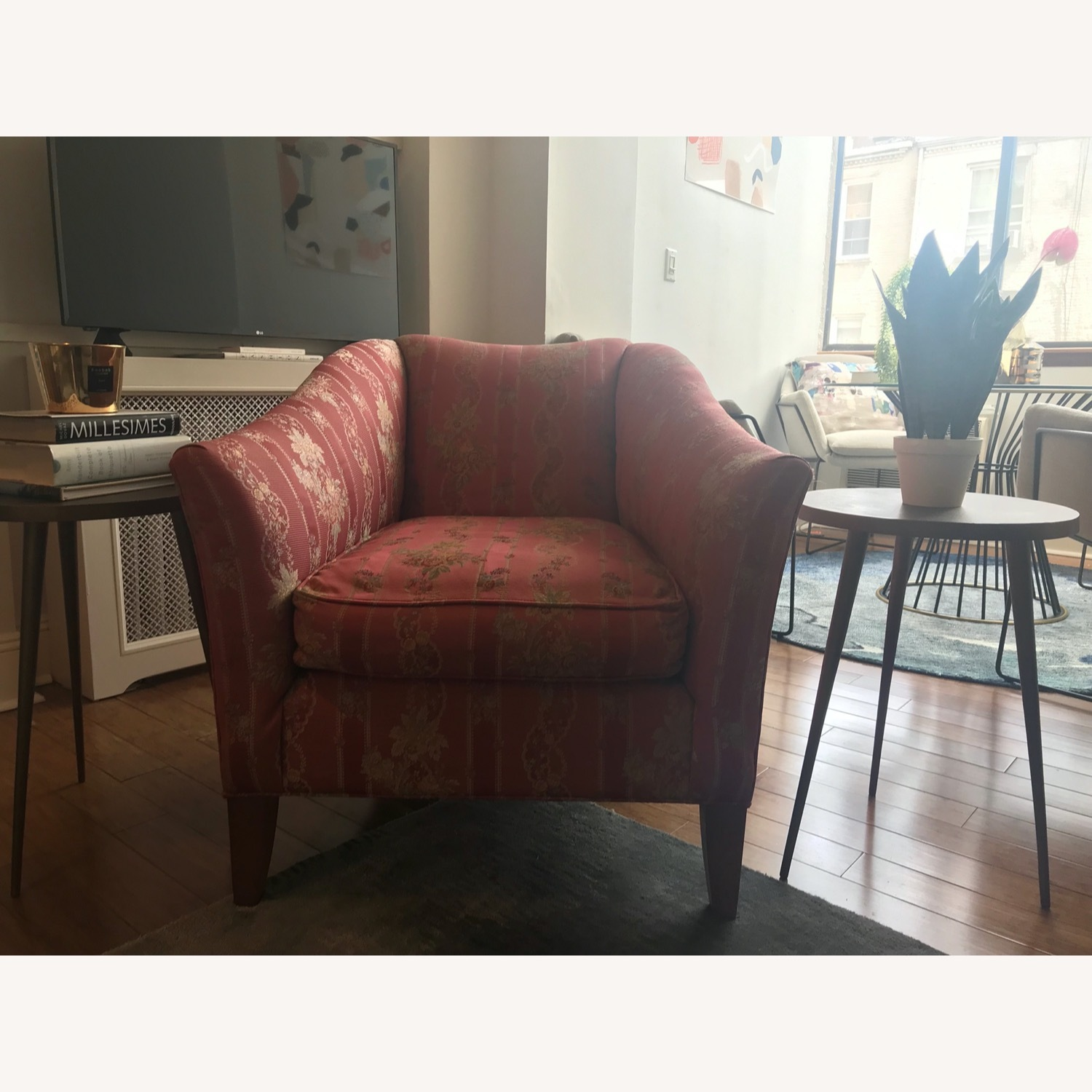 Ethan Allen Rose Accent Arm Chair - image-4