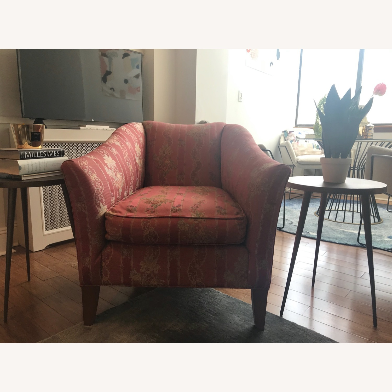 Ethan Allen Rose Accent Arm Chair - image-1