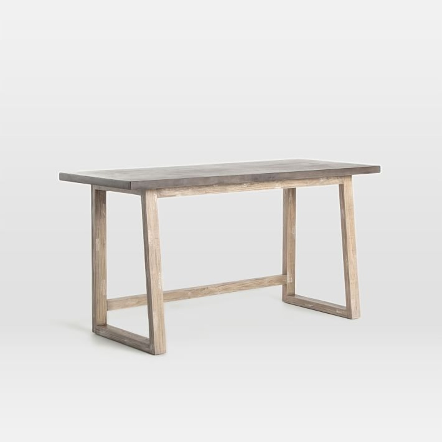 West Elm Concrete-Topped Mixed Wood Desk - image-1