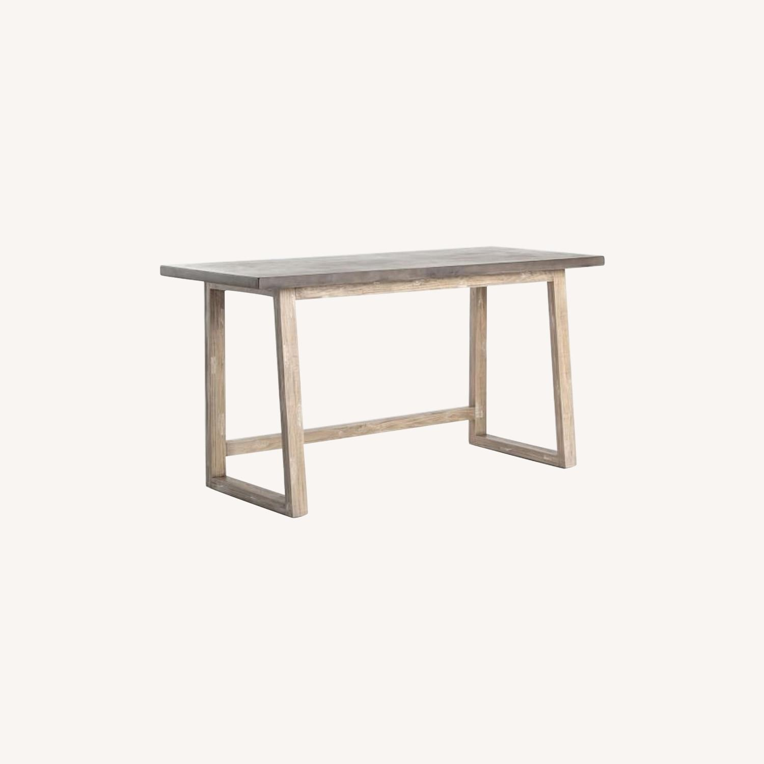 West Elm Concrete-Topped Mixed Wood Desk - image-0