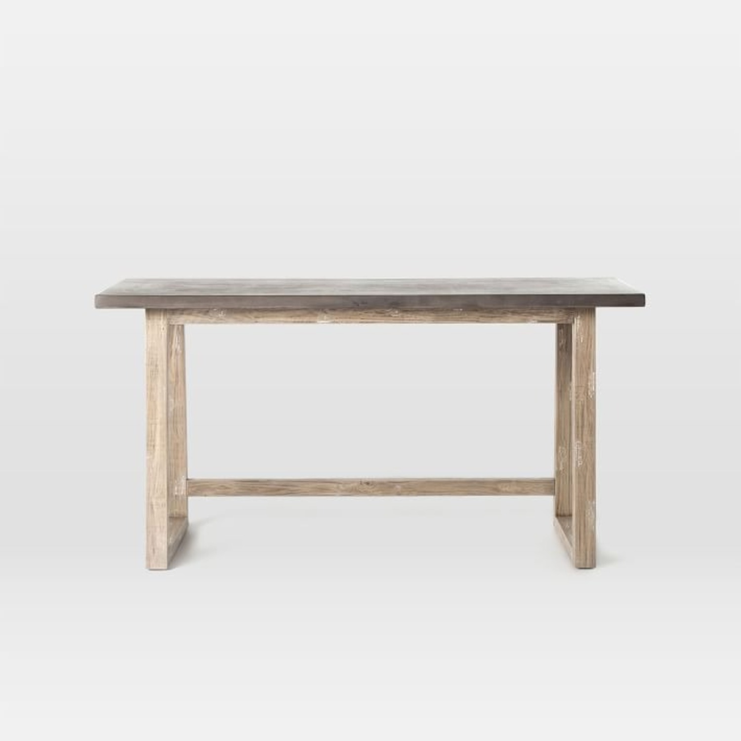 West Elm Concrete-Topped Mixed Wood Desk - image-2