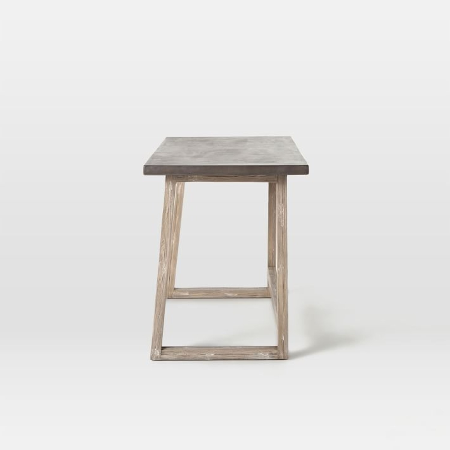 West Elm Concrete-Topped Mixed Wood Desk - image-3