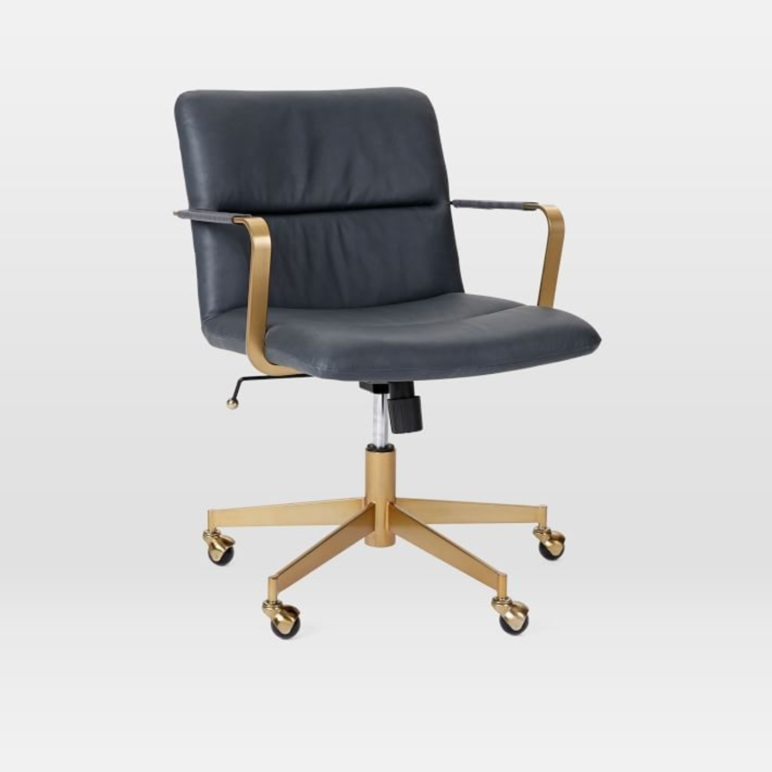 West Elm Copper Mid-Century Leather Office Chair - image-1