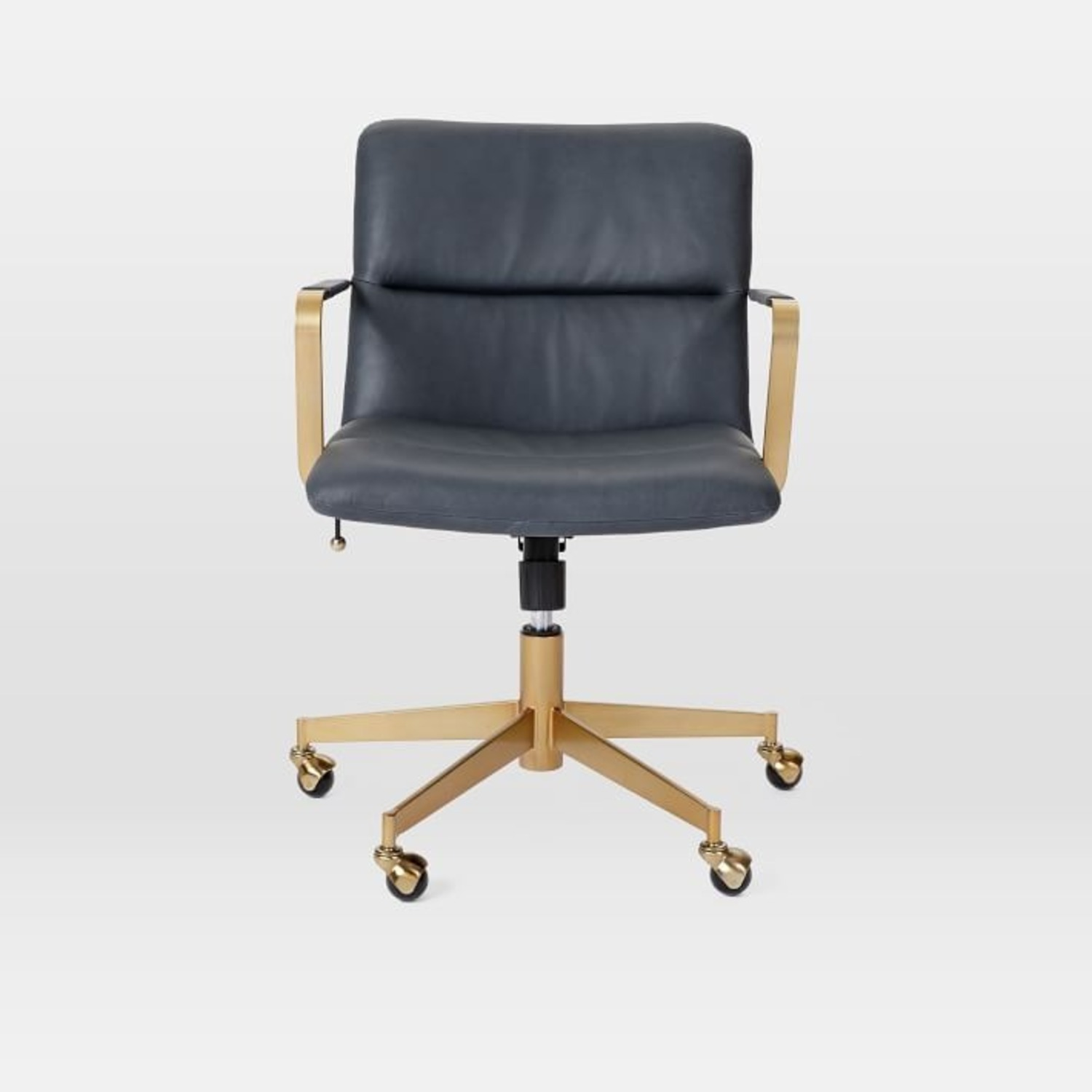 West Elm Copper Mid-Century Leather Office Chair - image-4