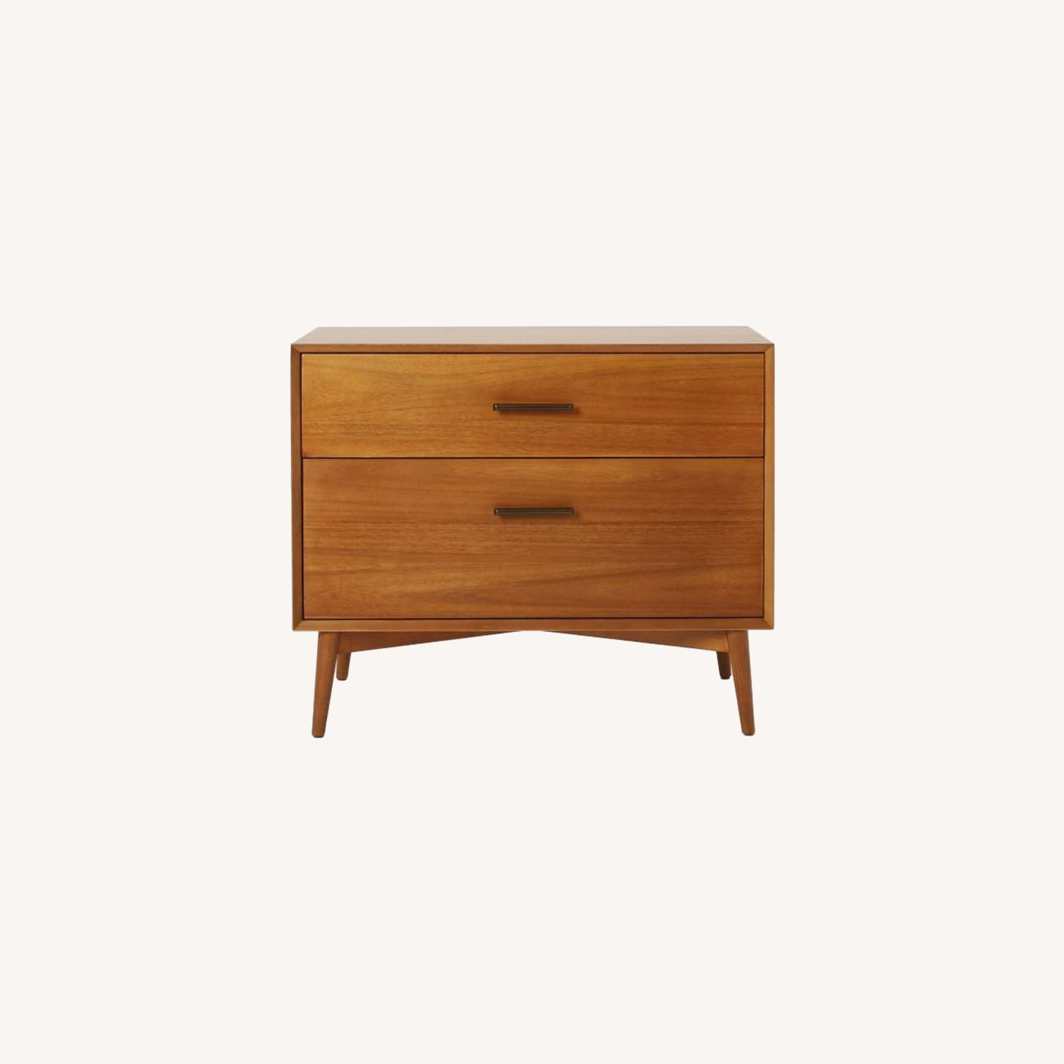 West Elm Mid-Century Lateral File, Acorn - image-0