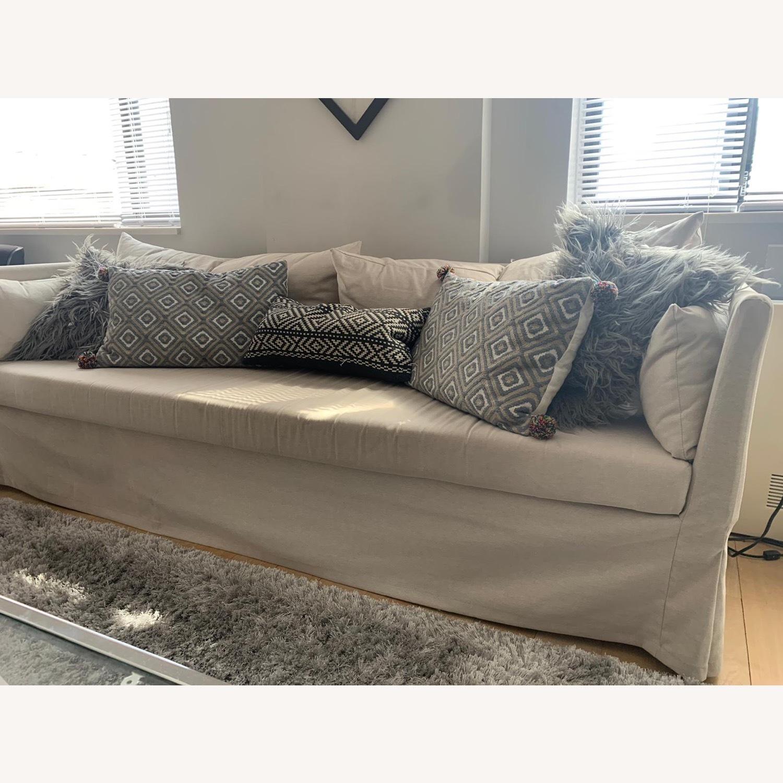 IKEA Beige SANDBACKEN Sofa - image-1